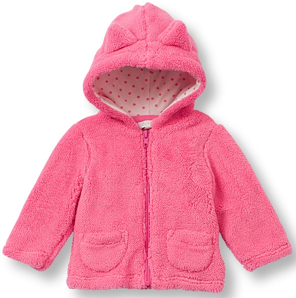 71126ec8772d LeTop. Miss Kitty Azalea Pink Hooded Plush Zip-Front Jacket with Kitty Ears  Sizes Available  3M